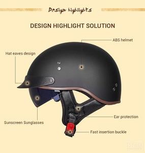Image 3 - Винтажный мотоциклетный шлем GXT в стиле ретро, мотоциклетный шлем с открытым лицом для скутера, мотоциклетного гоночного шлема с сертификацией DOT