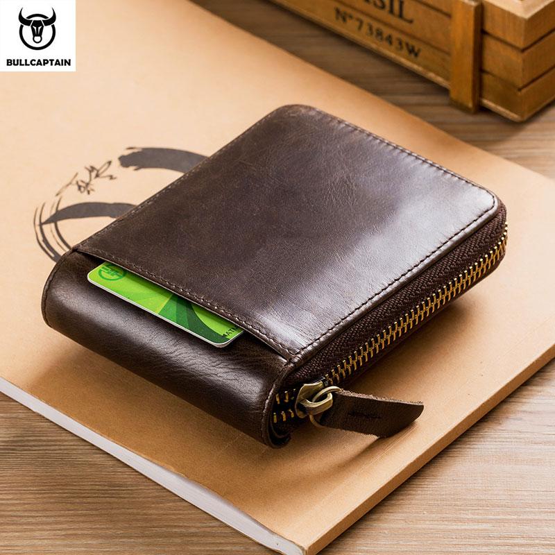 BULLCAPTAIN men's purse leather purse male purse RFID card holder wallet Storage bag coin purse Zipper wallet Men Men's Bags Men's Wallets cb5feb1b7314637725a2e7: Brown Coffee black