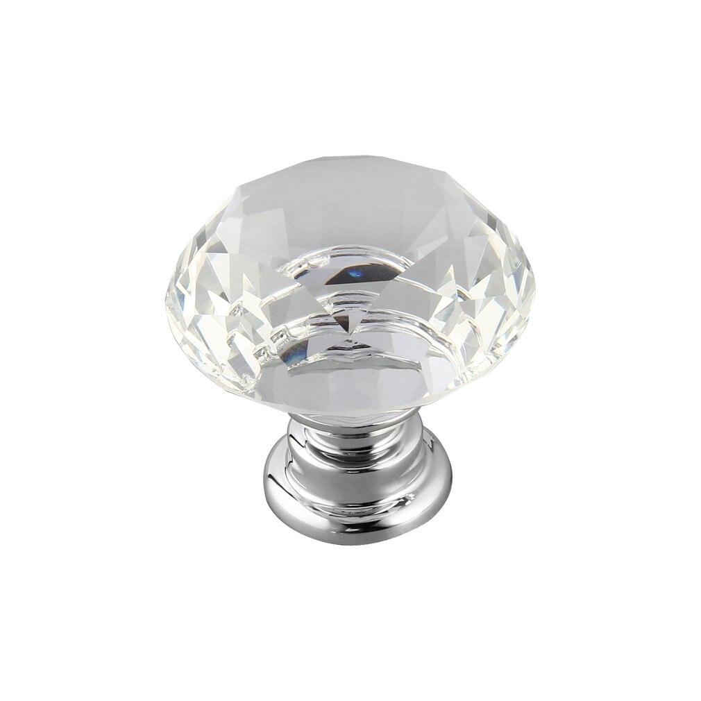 10 Pcs 30mm Diamant Form Kristall Glas Tür Griff Knob für möbel Schublade Schrank Küche Pull Griffe Knöpfe Griff kleiderschrank - 5
