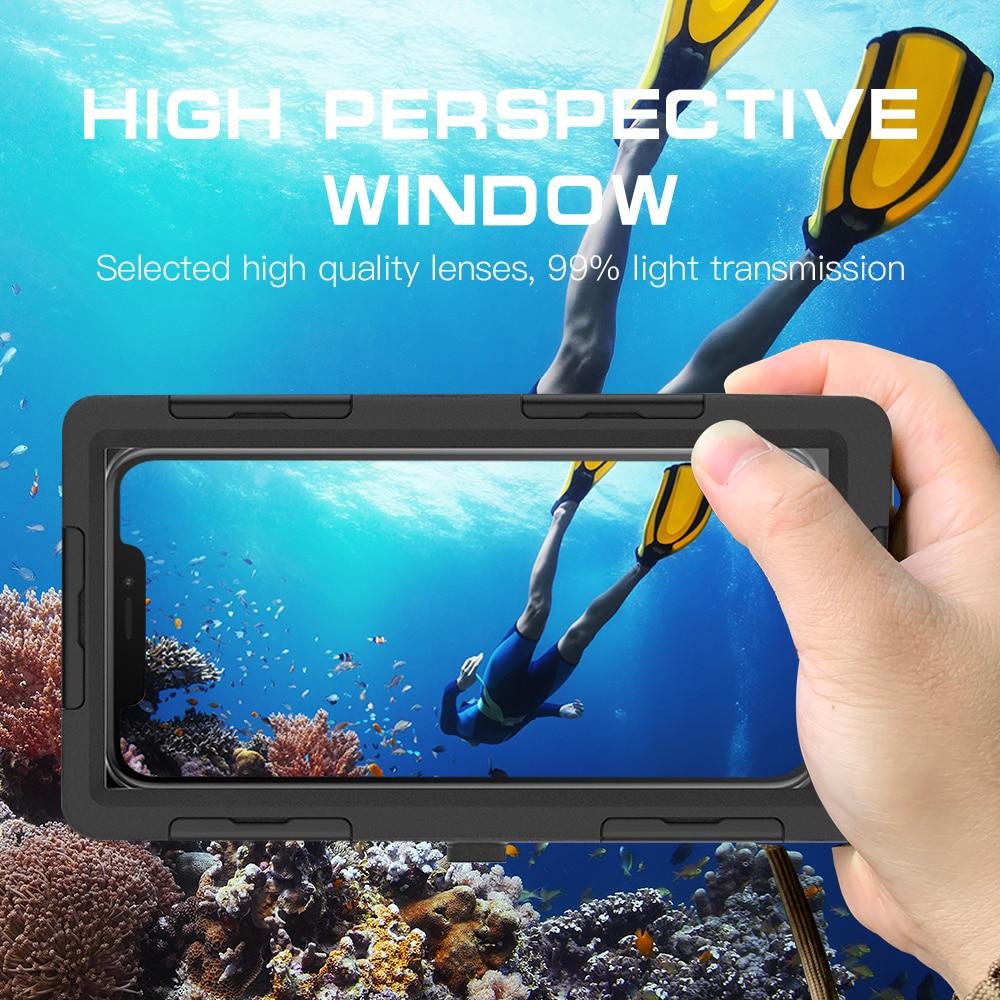 15M Tauchen Wasserdichte 360 full Body Schutz Telefon Fall Für iPhone 11 12 Pro Max Schwimmen Tauchen Wasser Beweis fall Für Note 10