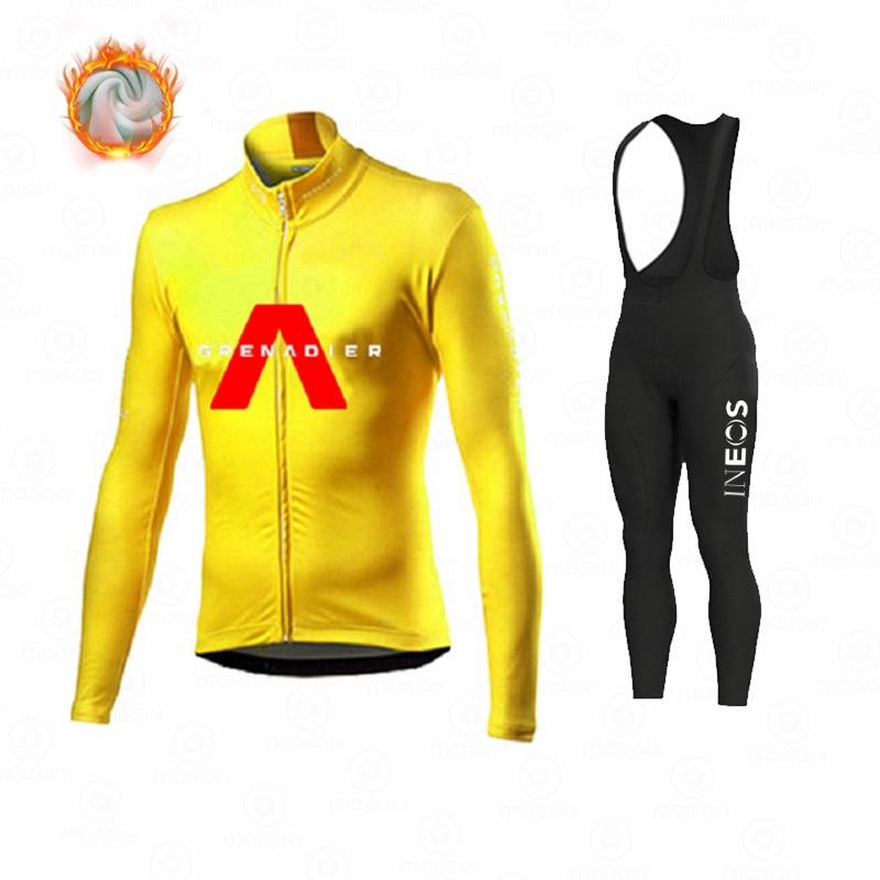 Ineos – vêtements de cyclisme en molleton thermique pour homme, tenue de Sport, d'équitation, vtt, collection hiver 2021 3