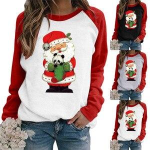 3D Panda nadruk świąteczny bluza z kapturem kobiety Casual koszule z długim rękawem topy sudaderas dla kobiet bluza z okrągłym wycięciem ropa mujer