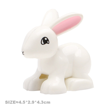 Big Size Building Blocks Cat Dog Pig Rabbit Model Accessories Compatible Duplo Farm Animals Assemble Education Toys For Kid Gift 5