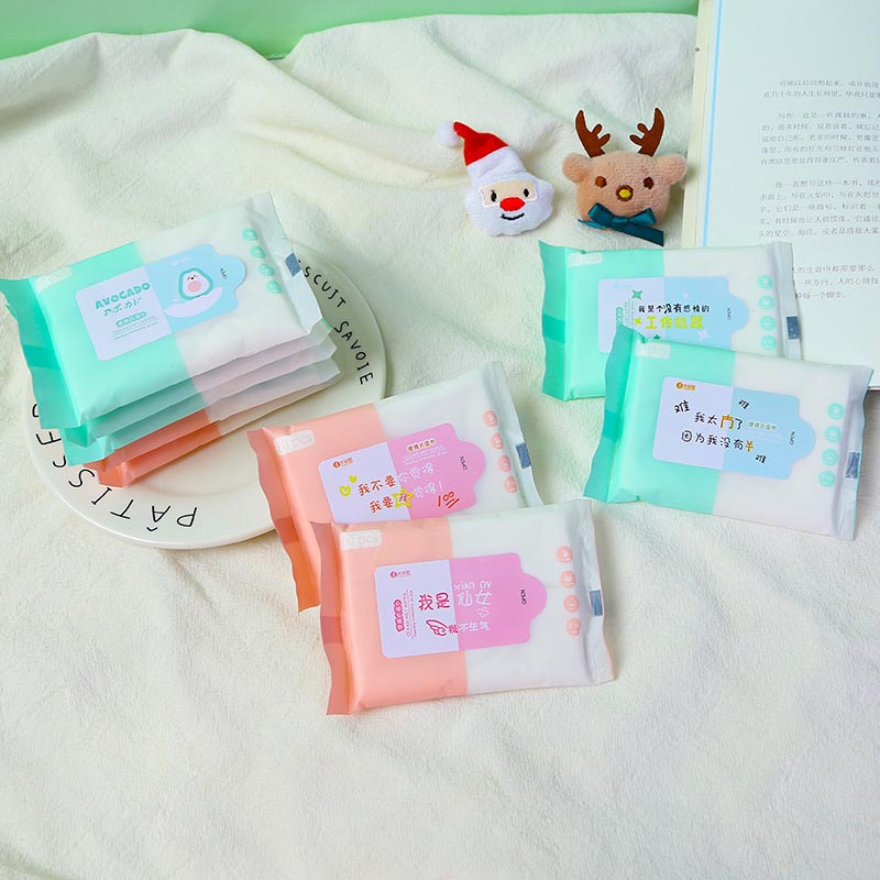 New 10 Piece Wet Towel Small Bag  Portable Baby Wet Towel 10 Piece Baby Wet Tissue Handkerchief Paper
