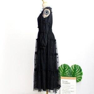 Image 3 - Черное платье с поясом для женщин DEL LUNA Hotel same IU платье летние корейские осенние подарки на день рождения Рождественская одежда