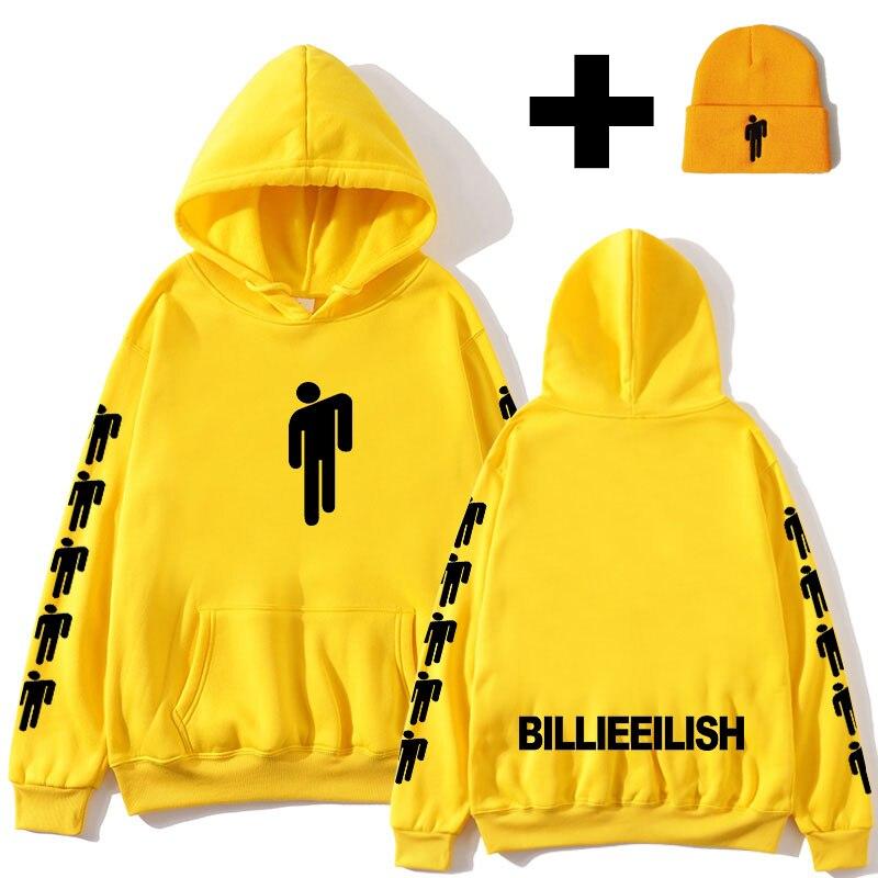 Billie Eilish Hoodie Men's Print Harajuku Pullover 2020 Spring Selling Print Hoodie Women Casual Street Hooded Sports Pullover