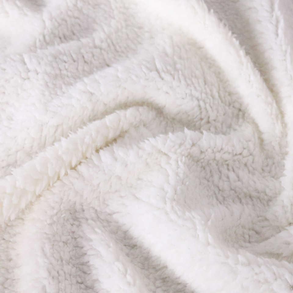 لينة شيربا بطانية لطيف الألبكة للطفل الكرتون بطانية رمي بطانية الفراش سميكة الدافئة على أريكة تتحول لسرير B1086