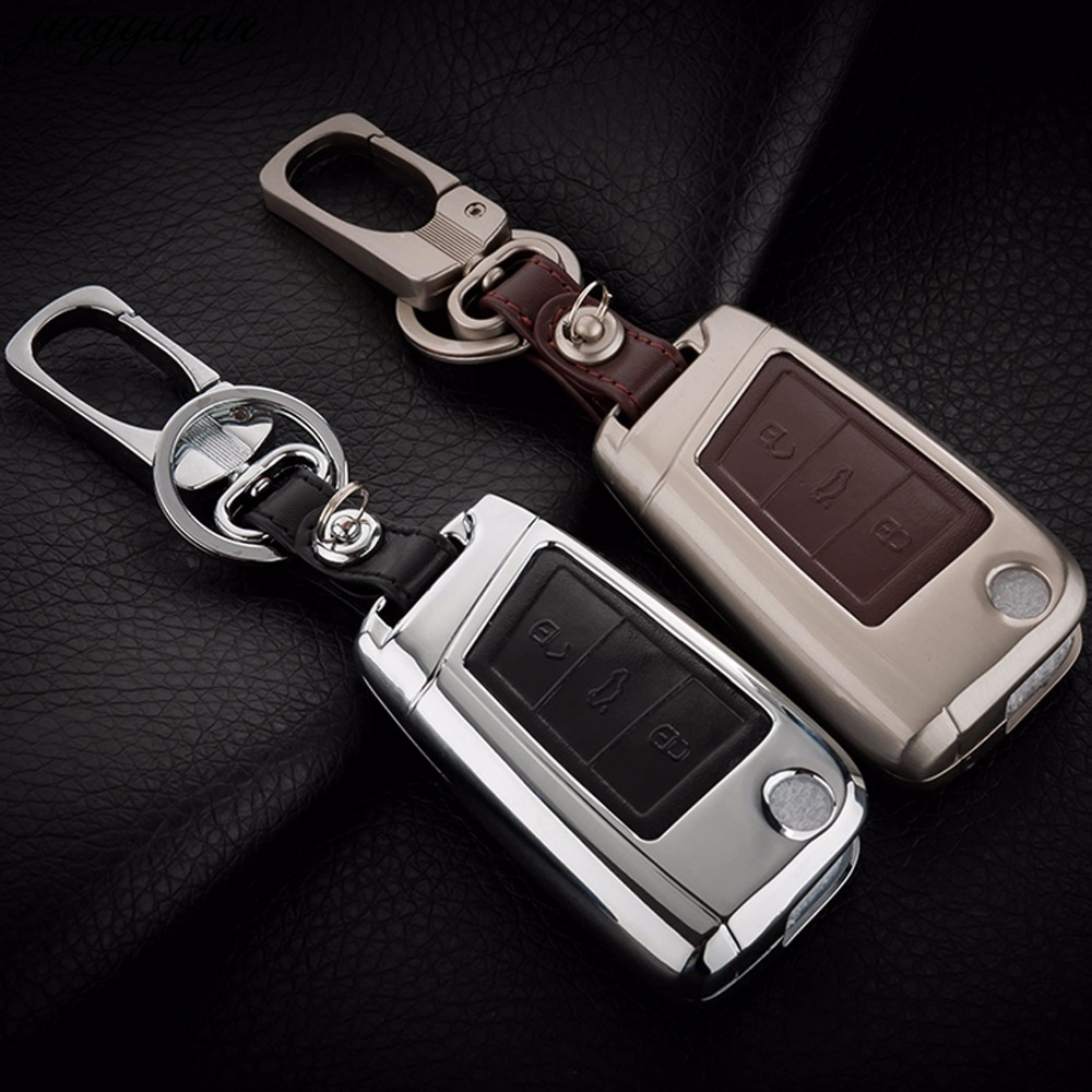Muchkey 2 Button Leather Key Holder Decorative Cover For Mazda 2 3 6 CX-5 CX-7 1Pc