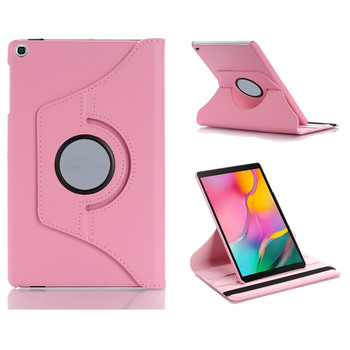 New Coque for Samsung Galaxy Tab A 10.1'' 2019 SM-T510 T515 Case 360 Rotation Smart Stand PU Case for Samsung T510 T515 360 Case case for samsung galaxy tab a 10 1 2019 sm t510 sm t515 wi fi lte flip tablet cover pu leather smart magnetic stand shell coque