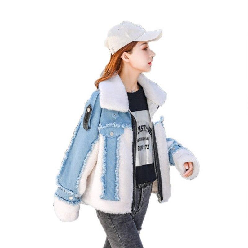 Shearing Leather   Jacket   And Fur Cowboy Split Loose Coat Fashion Harajuku Women   Jacket   Bts Riverdale Winter   Basic     Jackets