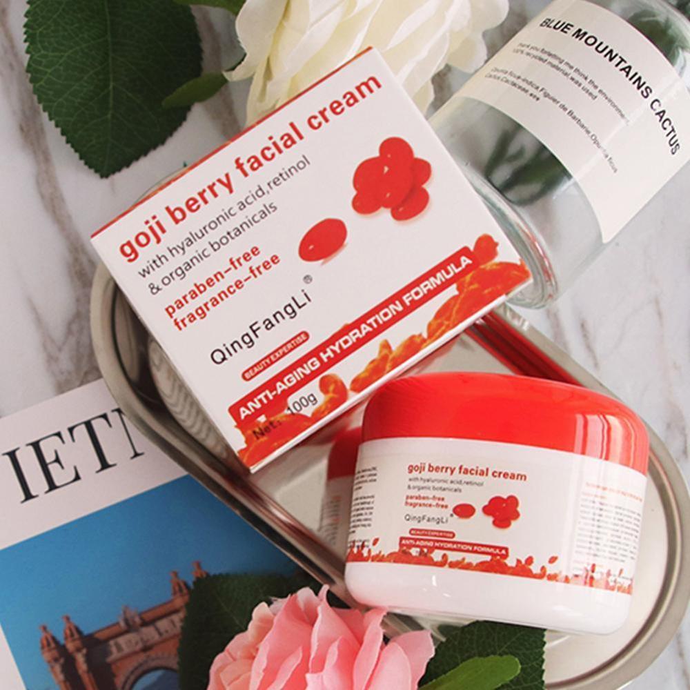 Hot Face Cream Natural Goji Cream Skin Care Anti-wrinkle Firming Anti Aging Whitening Moisturizing Facial Cream