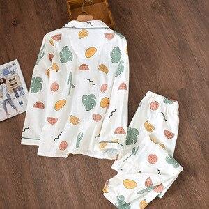 Image 3 - Bộ Đồ Ngủ Nữ Cotton Đồ Ngủ Mới Pyjama Set Nữ Dài Tay Pyjamas Nữ Cotton Sợi Pijama PJ Set Pijama mujer