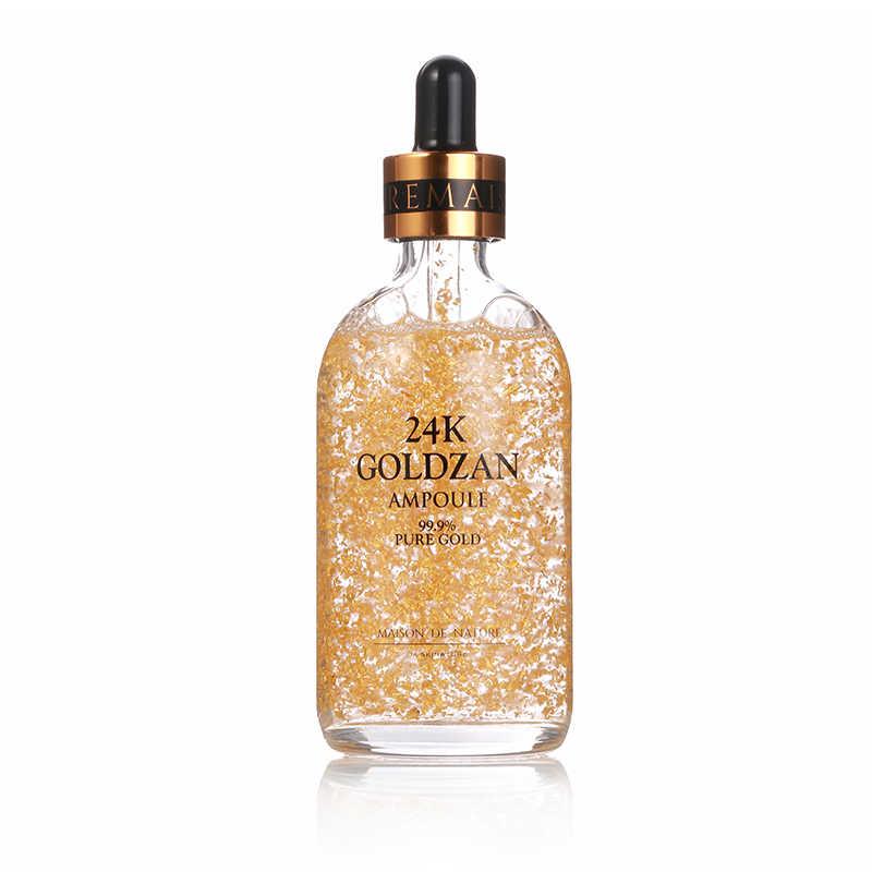 100% เกาหลี Original 99% PURE 24K Gold Foil Face Serum เซรั่มเข้มข้นผิว Essence Anti Aging Moisturizing Whitening