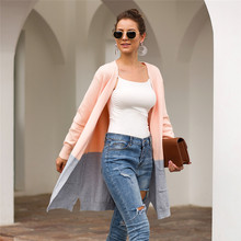 Women Sweater Cardigan Mujer Patchwork Womens Sweater Jumper Long Sleeve Long Cardigans Fashion Pull Femme Cardigan Feminino women autumn sweater cardigan long sleeve sweaters mujer cardigan patchwork loose sweater cardigan pocket femme pull cardigans
