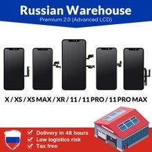 아이폰 6 6S 7 7 플러스 8 8 플러스 LCD 화면에 대 한 러시아웨어 하우스 아이폰 X LCD 디스플레이에 대 한 터치 스크린 새로운 프리미엄 Tianma