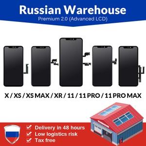 Image 1 - רוסית מחסן עבור iPhone 6 6S 7 7 בתוספת 8 8 בתוספת LCD מסך חדש פרימיום Tianma עם מגע מסך עבור iPhone X LCD תצוגה