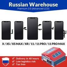 รัสเซียโกดังสำหรับiPhone 6 6S 7 7 Plus 8 8 Plusหน้าจอLCDใหม่พรีเมี่ยมTianma TouchสำหรับiPhone XจอแสดงผลLCD