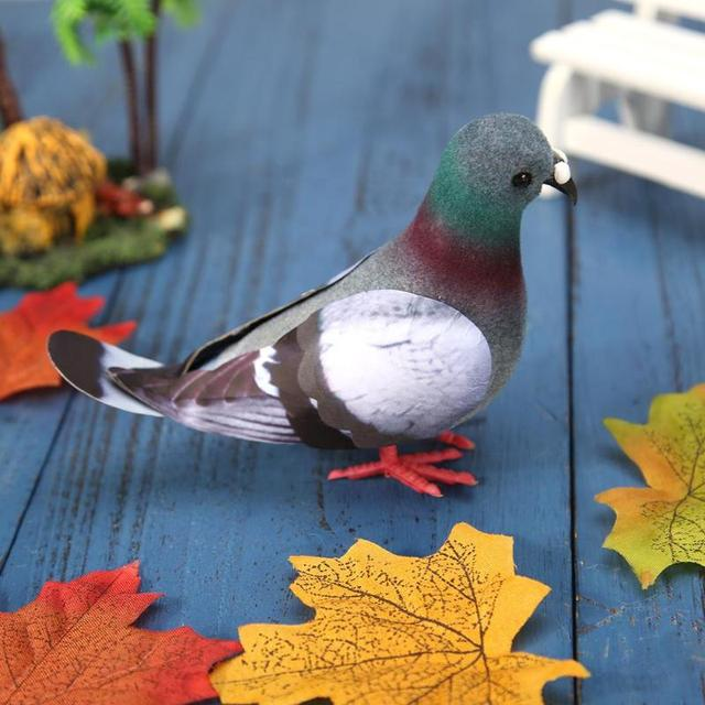 Simulation Foam Pigeon Model Fake Artificial Imitation Bird Animal Home Garden Ornament Miniature Decoration Home Decoration 5
