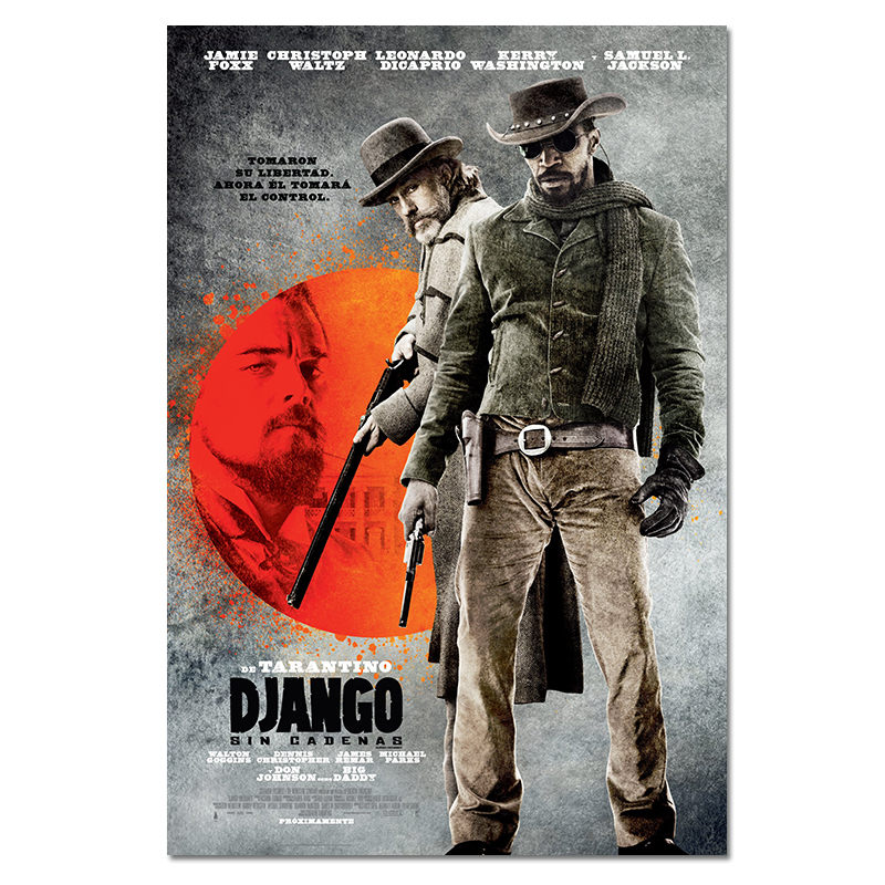 classic-movie-silk-poster-django-unchained-retro-art-prints-vintage-wall-decor-pictures-quentin-font-b-tarantino-b-font-canvas-posters