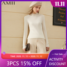 Winter Sweaters Women's Turtleneck Cashmere100%Causal Amii Minimalism for Slim-Fit Keep-Warm