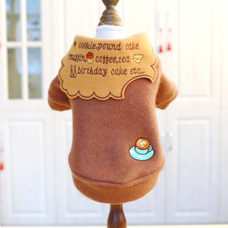 PETCIECLE одежда для домашних животных плюшевый Померанский Бишон собака осень зима Удобная Мода печенья Повседневная двуногая одежда|Толстовки для собак|   | АлиЭкспресс