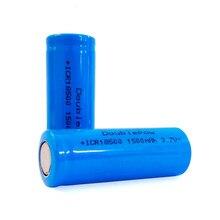 18500 1500mAh 3.7 V Rechargeable Battery Recarregavel Lithium Ion Battery for LED Flashlight