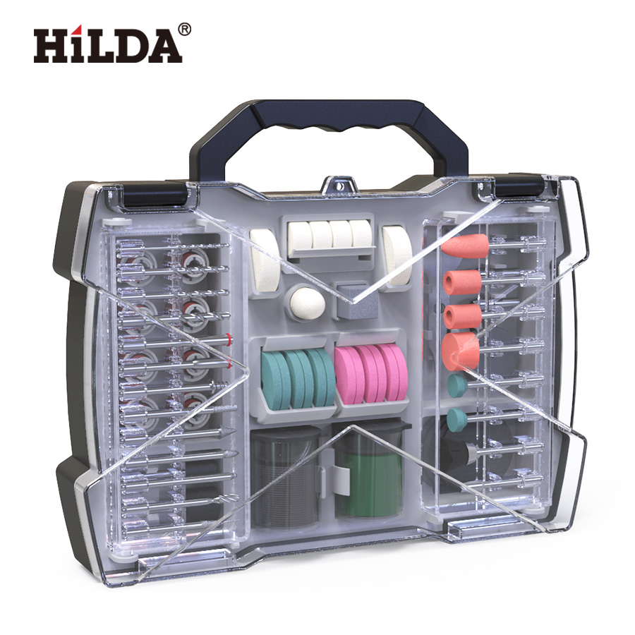 HILDA Rotary Tool Accessories For Dremel Mini Drill Bit Set Abrasive Tools Grinding Sanding Polishing Cutting Tool Kits