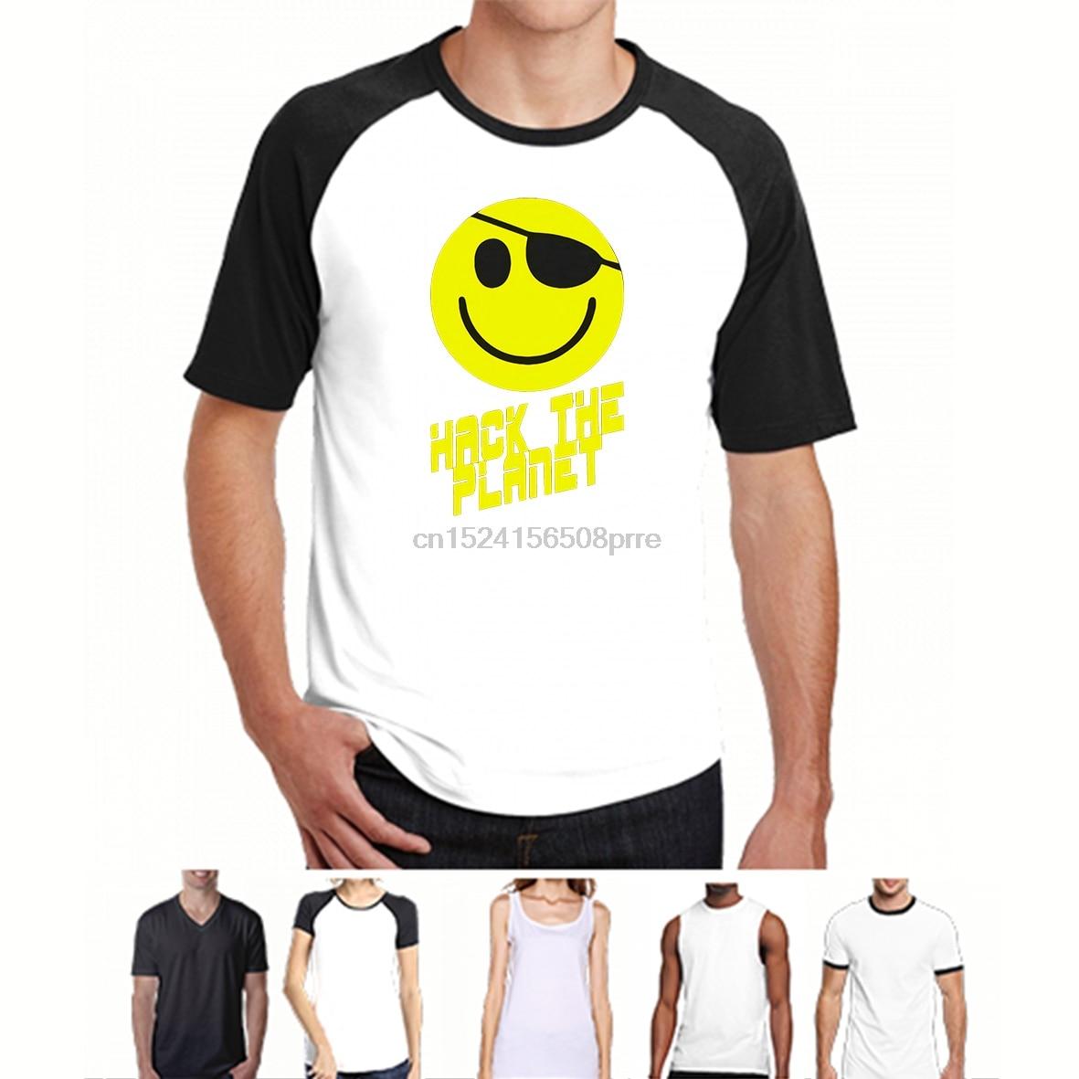 100% Cotton O-neck Custom Printed Men T shirt Hack the Planet Women T-Shirt