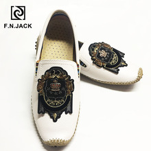 F.N.JACK  Plus size shoes 46 47 48 Mens Loafers Casual Rubber Men shoes Fashion Leather Driving Moccasins men Hiking Shoes man