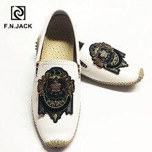 F.N.JACK artı boyutu ayakkabı 46 47 48 erkek mokasen rahat kauçuk erkek ayakkabısı moda deri sürüş Moccasins erkekler yürüyüş ayakkabıları adam
