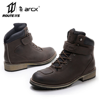 ARCX Motorcycle Boots Waterproof Leather Motocross Boots Men Motorcycle Outdoor Travel Shoe Moto Vintage Ankle Boots