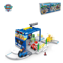 Paw Patrol Dog Playset Portable Assembling Parking Lot Cartoon Anime Plastic Toy Action Figures Model Children Toys Gifts G50T