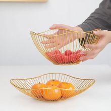 Display Bowl Decorated Storage-Basket Dining-Table-Decoration Vegetable Fruit Metal Nordic-Style