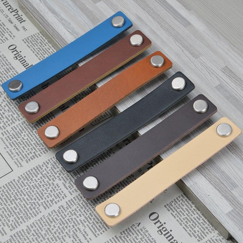 Современная ручка для шкафа из мягкой искусственной кожи ручной работы, дверная ручка для ящика Ручки шкафа      АлиЭкспресс