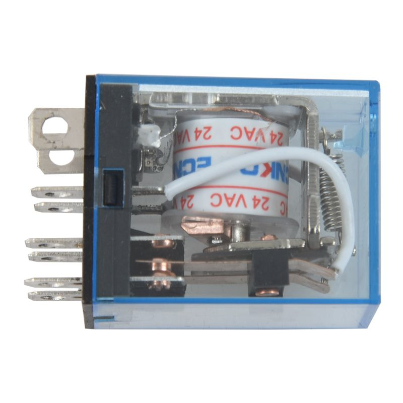 AC24V Coil Voltage Power Relay With 35mm Din Guide Plug