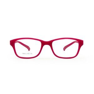 Image 2 - Monture de lunettes pour garçons et garçons, avec sangle, Flexible, pliable, sans vis, sécuritaire, optique, une pièce, 43/16