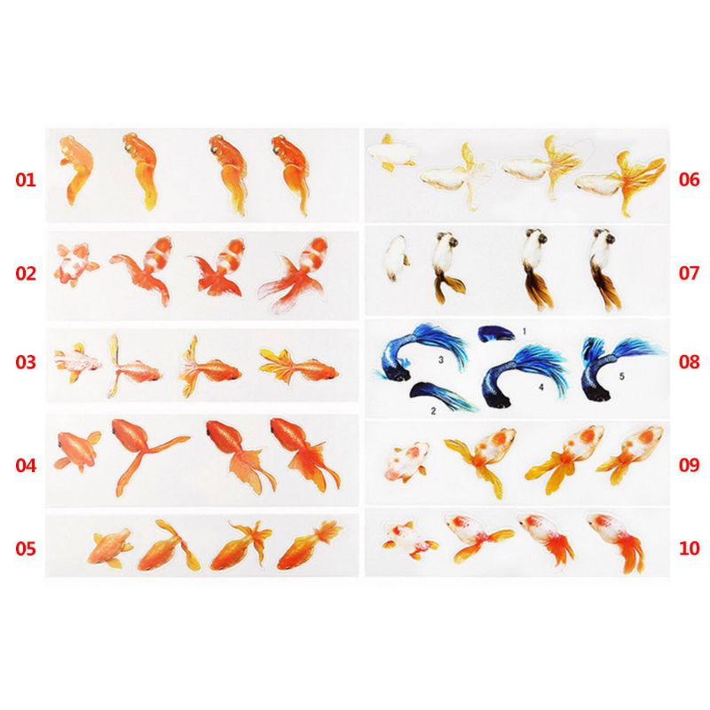 Resin Sticker DIY Crafts Fish 3D Mold Material Decoration Jewelry Filling Tools