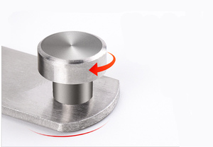 Image 5 - 90 degree stainless steel door latch right angle sliding door lock latch screw locker hardware accessories