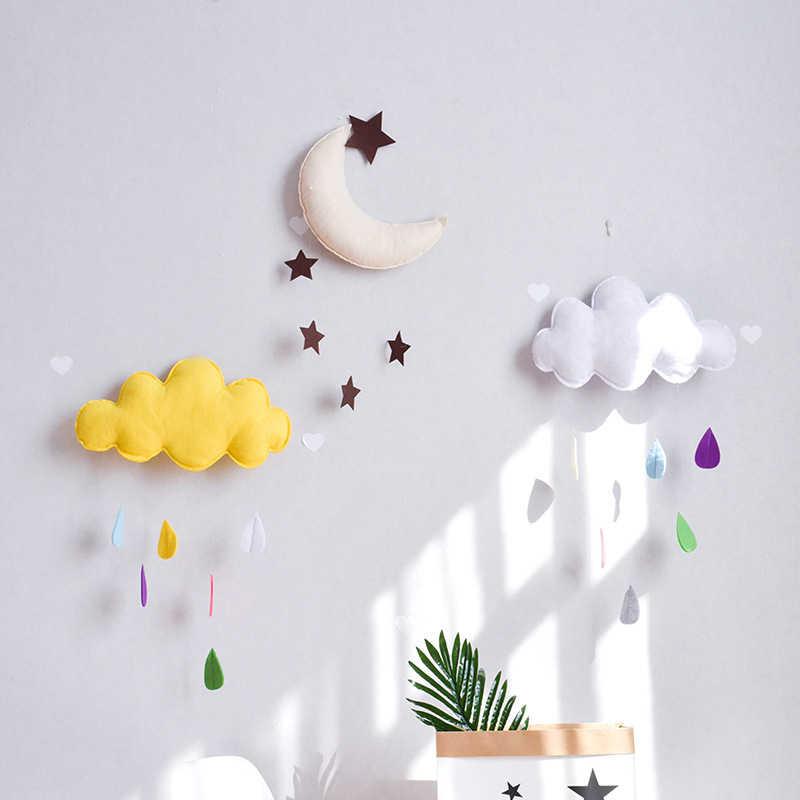Décoration de la maison nordique enfants tente décoration nuage feutre goutte de pluie pendentif enfants chambre mariage décor sourires photographie accessoires