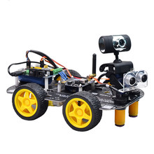 Programmable Robot DIY Wifi Steam Educational Car With Graphic Programming XR BLOCK Linux For Arduino UNO R3( Updated Version)(China)