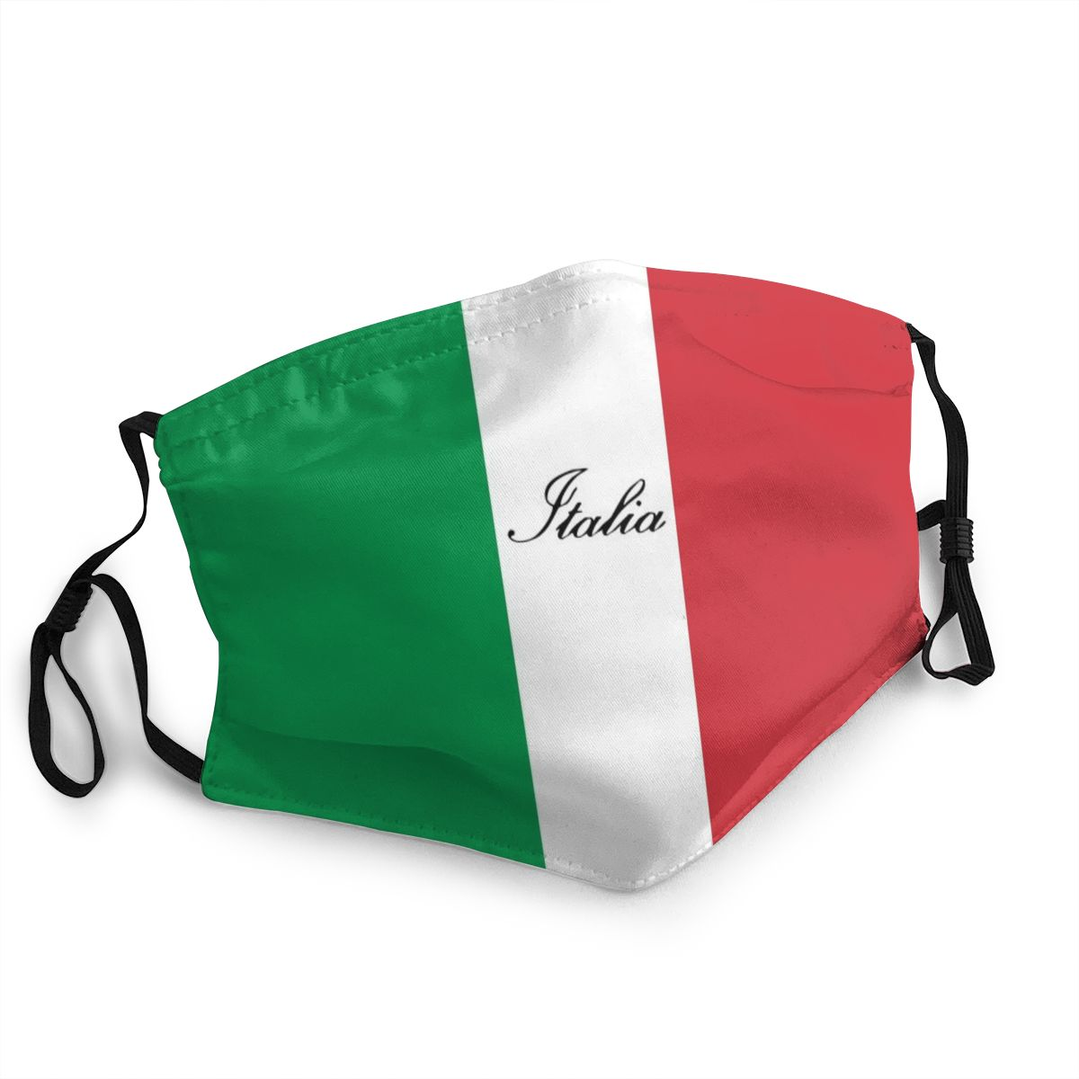 Italian Flag Of Italy Italia Unisex Reusable Mouth Face Mask Anti Haze Dust Protection Cover Respirator