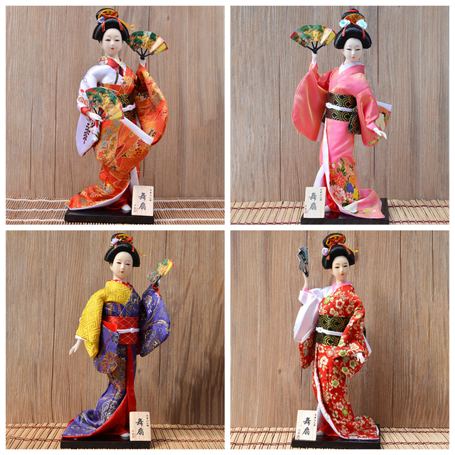 30cm Japanese Kimonos Dolls Traditional Japanese Geisha Figurines Statues Ornaments Home Restaurant Desktop Decoration Gifts 4