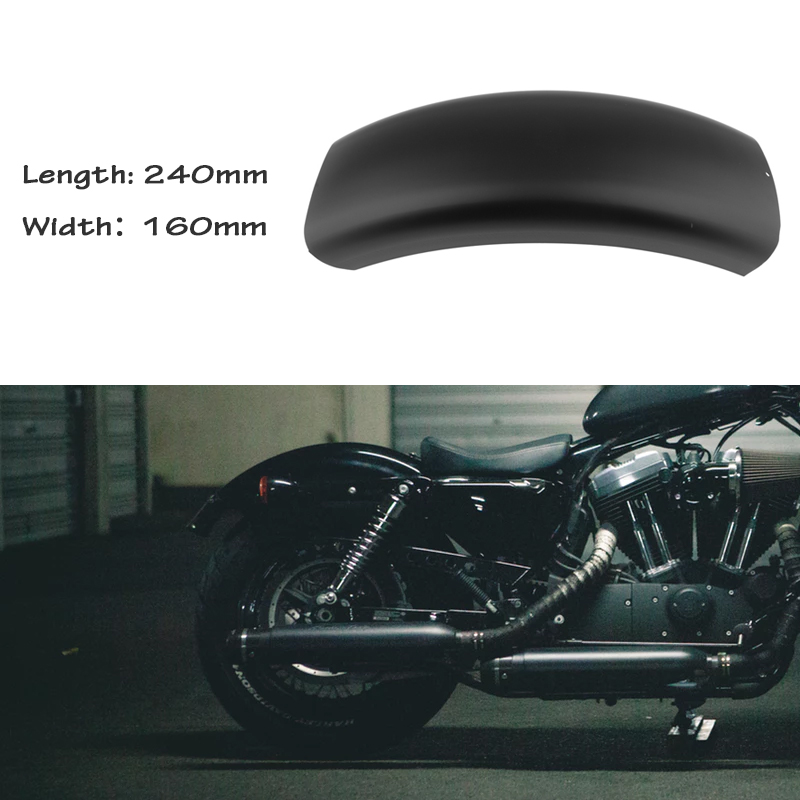 1 Pcs Motorcycle Rear Fender Short MudGuard Cover For Harley Bobber Chopper Black Metal Retrofit 6.3 Inch Motorcycle Accessories