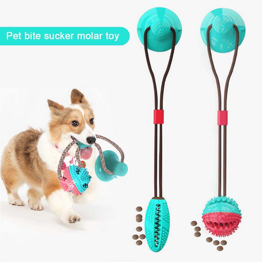 Pet Dog Toothbrush Dogs Chew Toys medium Pet Dogs Molar Teeth Cleaner With Suction Cup Leaky Food Training Oral Care Sticks