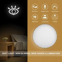 New LED Flush Mount Ceiling Lights 12W Motion Sensor Light-operated Automatically on Round Ceiling Light for Dining Room free