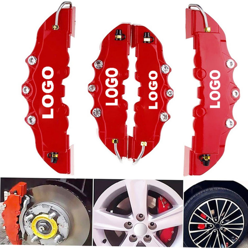 Caliper-Cover Universal-Kit Brembo Car-Disc-Brake Word 3D Red And 4PCS for 2PCS 2m 2-S title=