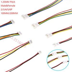 10 компл. 100 мм мини микро JST 1,25 2/3/4/5/6 контактный разъем с проводом 1,25 мм 2pin/3pin/4pin/5pin кабель 2p/3p/4p/5p