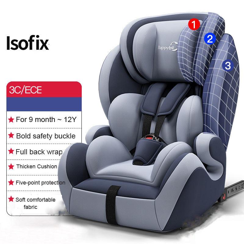 Baby Baby Car Seat Child Safety Seat ISOFIX Hard Interface 9 Months -12 Years