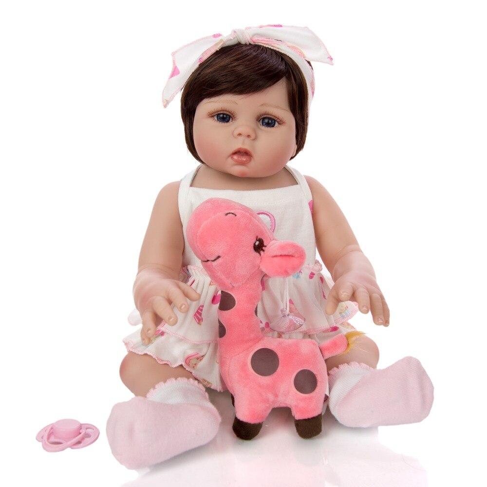 45CM nouveau-né bebes reborn poupées bébé fille vivant en peau de bronzage plein corps silicone bain jouet lol poupées surprises noël Gfit