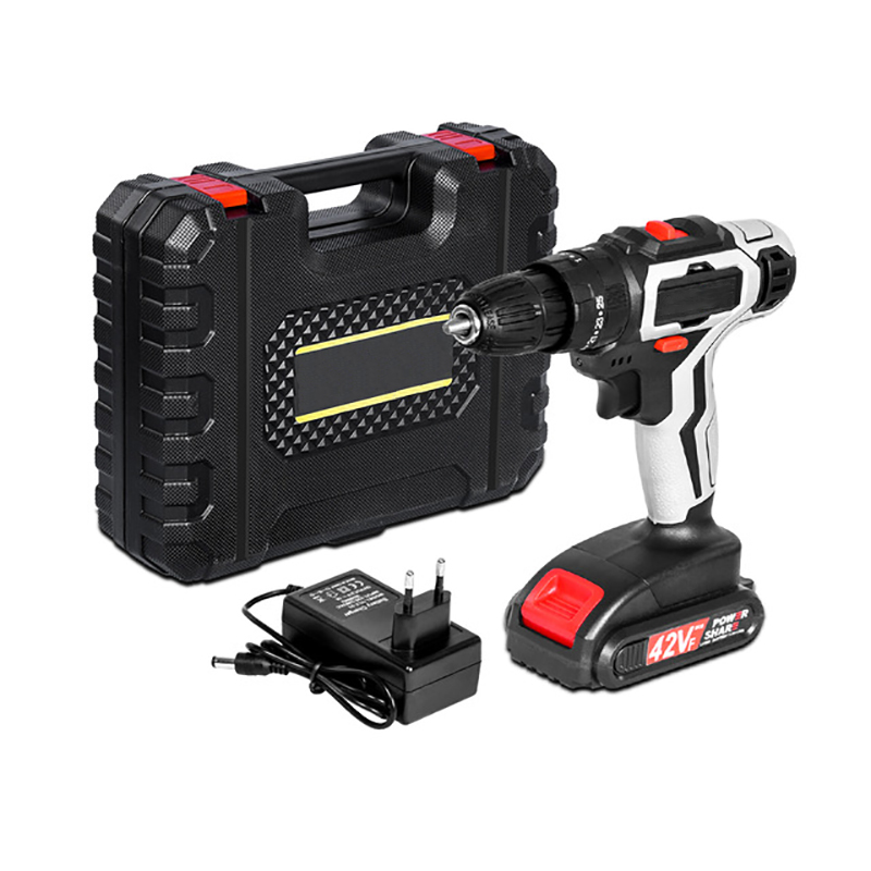 Electric Cordless Drill Screwdriver 42Vf 2-Speed Mini Wireless Power Driver Rechargeable Lithium-Ion Battery Power Tools